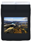 Lake In An Old Volcanic Crater Or Duvet Cover