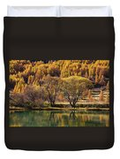 Lake In Autumn - 3 - French Alps Duvet Cover