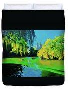Lake In Central Park Ny Duvet Cover