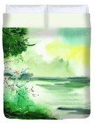 Lake In Clouds Duvet Cover