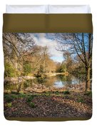 Lake In Early Springtime Woodland Duvet Cover