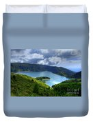 Lake In The Azores Duvet Cover