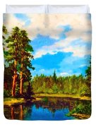Lake In The Forest  Duvet Cover