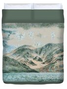 Lake In The Mountains Duvet Cover