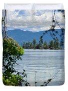 Lake Islet Duvet Cover