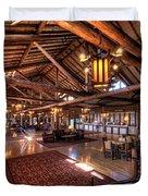 Lake Lodge Interior Yellowstone Duvet Cover