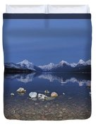 Lake Mcdonald Rocks Duvet Cover