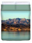 Lake Mead Before Sunset Duvet Cover
