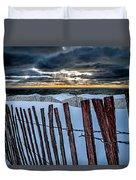 Lake Mi Sunset 15 Duvet Cover