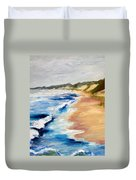 Lake Michigan Beach With Whitecaps Detail Duvet Cover