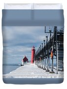 Lake Michigan Ice Duvet Cover