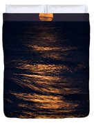 Lake Michigan Moonrise Duvet Cover
