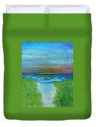 Lake Michigan Sunrise 02132016 Duvet Cover