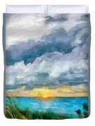 Lake Michigan Sunset Duvet Cover