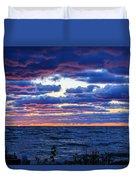 Lake Michigan Windy Sunrise Duvet Cover