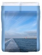 Lake Michigan Winter Duvet Cover