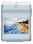 Lake Michigan With Whitecaps Ll Duvet Cover