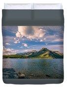Lake Minnewanka Banff II Duvet Cover