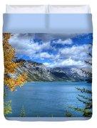 Lake Minnewanka Banff National Park Alberta Canada Duvet Cover