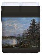 Lake Moonrise Duvet Cover