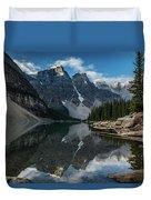 Lake Moraine Reflection Duvet Cover