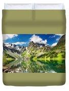 Lake Mountain Green Nature Landscape By Elvin Siew Chun Wai Duvet Cover
