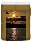 Lake Murray Golden Hour Duvet Cover