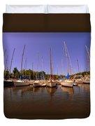 Lake Murray S C Marina Duvet Cover
