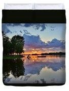 Lake Murray Sc Reflections Duvet Cover