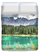 Lake Of Carezza - Italy Duvet Cover