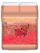 Lake Of Fire Duvet Cover