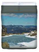 Lake Of Glass Winter Duvet Cover
