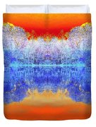 Lake Of Many Colors  Duvet Cover