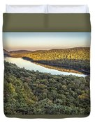 Lake Of The Clouds Sunset Duvet Cover
