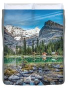 Lake O'hara At Dusk Duvet Cover
