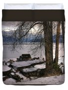 Lake Pend D'oreille At Humbird Ruins 1 Duvet Cover