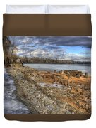 Lake Pend D'oreille At Humbird Ruins 2 Duvet Cover