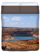 Lake Powell And Glen Canyon Dam Duvet Cover