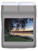 Lake Quannapowitt At Sunset Duvet Cover