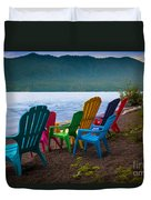Lake Quinault Chairs Duvet Cover