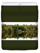 Lake Reflections Panorama 4370 4371 Duvet Cover