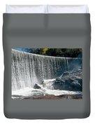 Lake Sequoyah Dam Falls - Highlands, North Carolina Duvet Cover