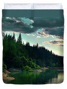 Lake Shasta Painterly Duvet Cover