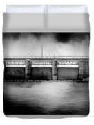Lake Shelbyville Dam Duvet Cover