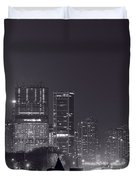 Lake Shore Drive Chicago B And W Duvet Cover