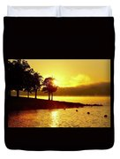 Lake Sunrise Duvet Cover