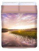 Lake Sunset Duvet Cover