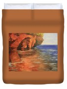 Lake Superior Cave Duvet Cover