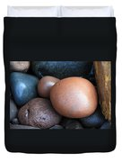 Lake Superior Rocks Duvet Cover