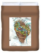 Lake Superior Watershed In Early Spring Duvet Cover